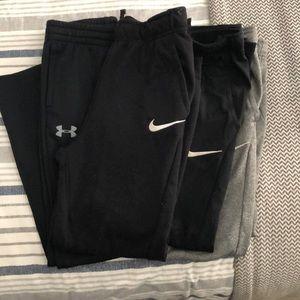 Bundle boys Nike & Under armour pants